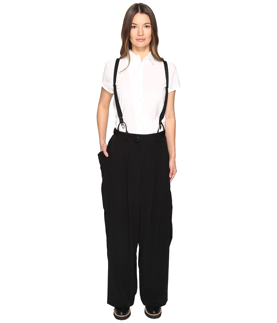 Y's by Yohji Yamamoto - U-Big Side Pocket P Overalls (Black) Women's Overalls One Piece