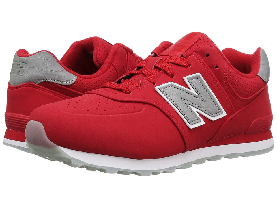 New Balance Kids - KL574v1 Ice Rubber (Big Kid) (Chinese Red/White) Boys Shoes