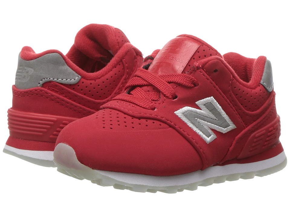 New Balance Kids - KL574v1 Ice Rubber (Infant/Toddler) (Chinese Red/White) Boys Shoes