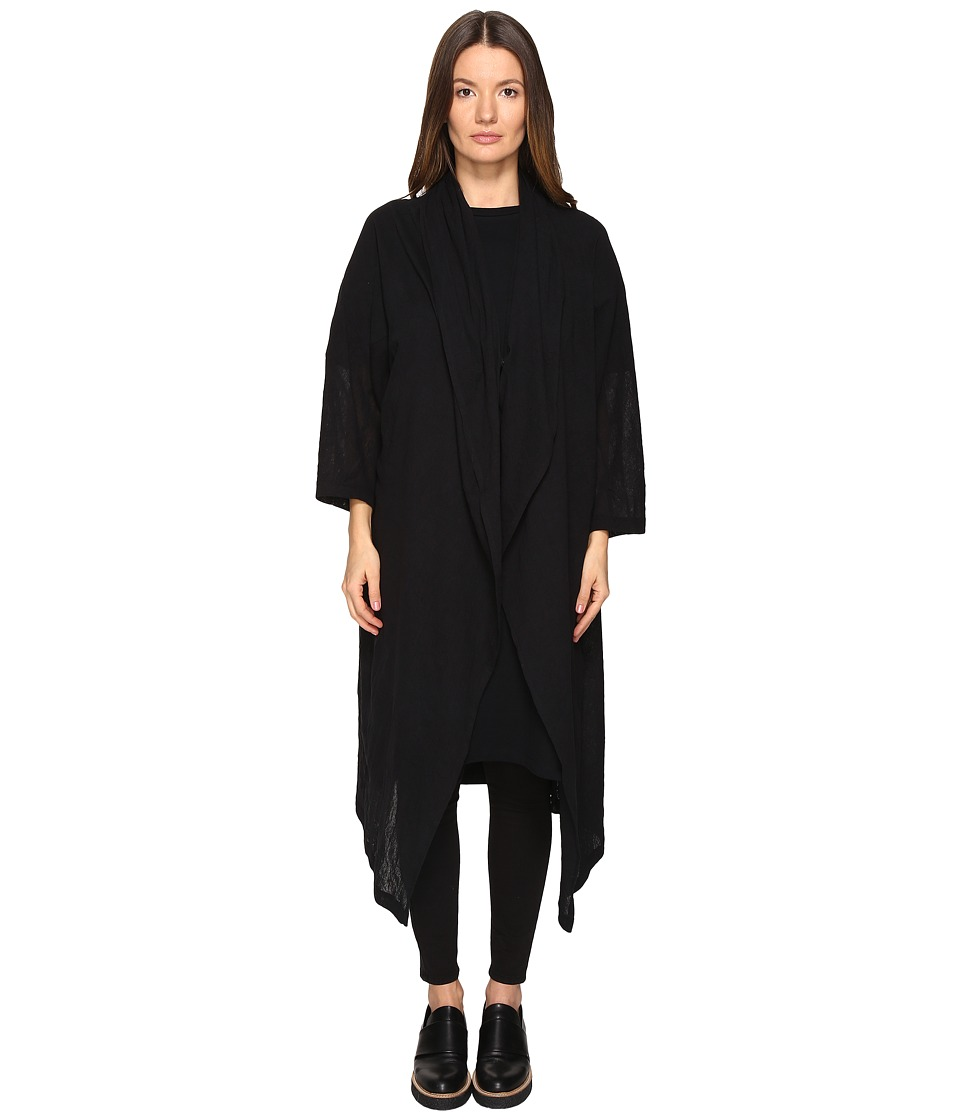 Y's by Yohji Yamamoto - Pin CD Long Cardigan (Black) Women's Sweater
