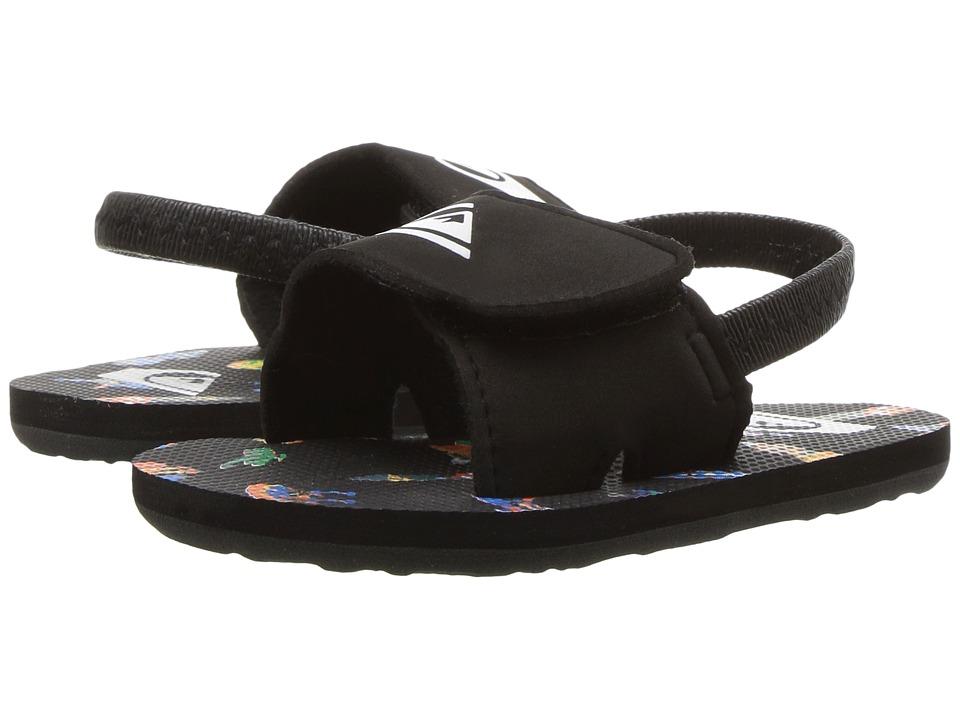 Quiksilver Kids - Molokai Layback (Infant/Toddler) (Black/White/Red) Boys Shoes