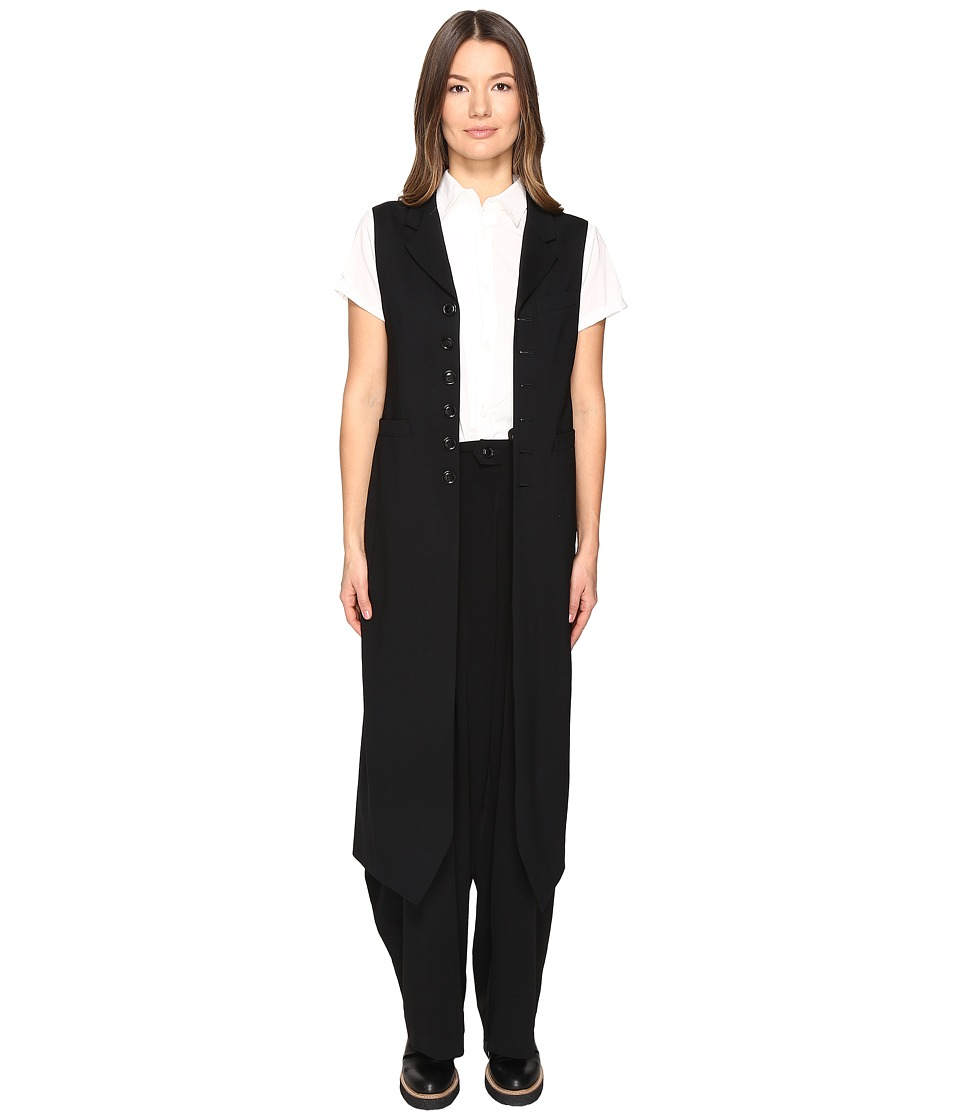 Y's by Yohji Yamamoto - K-Long Vest (Black) Women's Vest