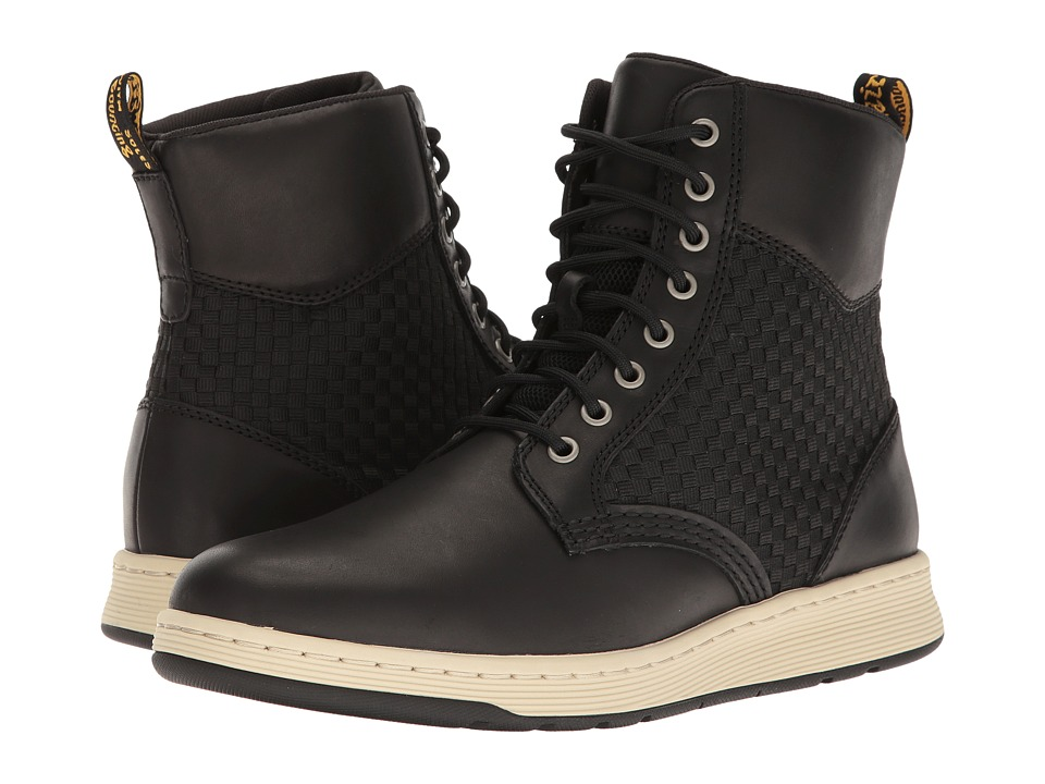 Dr. Martens - Rigal WV (Black Temperley/Woven Fabric) Boots