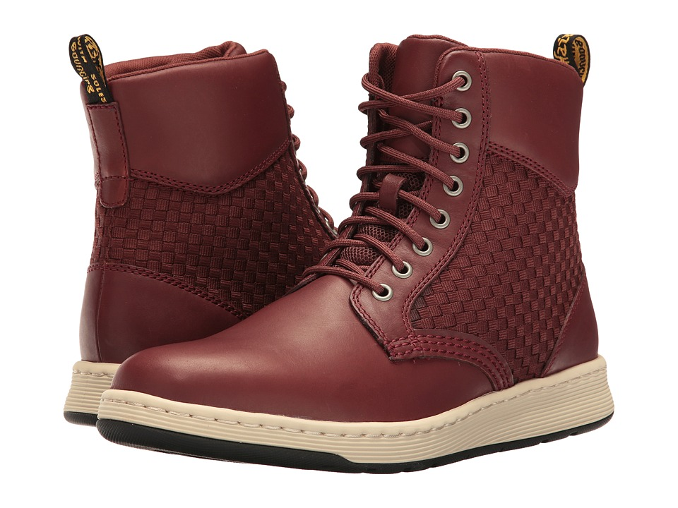 Dr. Martens - Rigal WV (Oxblood/Dark Oxblood Temperley/Woven Fabric) Boots