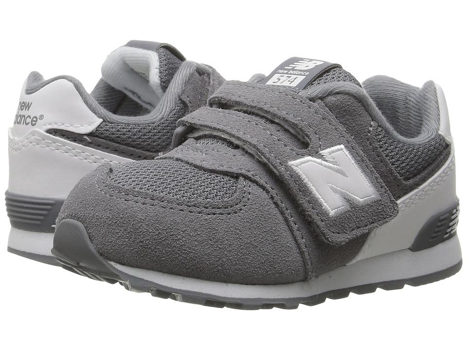 New Balance Kids - KL574v1 Reflective (Infant/Toddler) (Grey/White 2) Boys Shoes