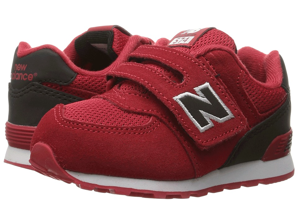 New Balance Kids KV574v1 (Infant/Toddler) (Red/Black) Boys Shoes
