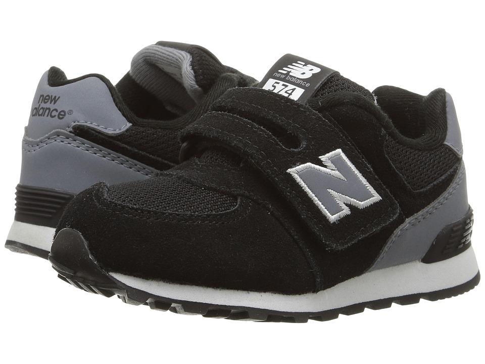 New Balance Kids - KV574v1 (Infant/Toddler) (Black/Grey) Boys Shoes