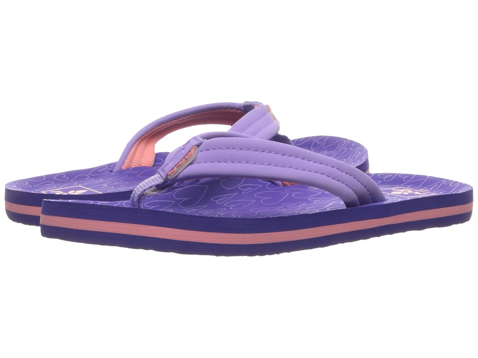 Reef Kids Little Ahi (Toddler/Little Kid/Big Kid) (Purple/Hearts) Girls Shoes