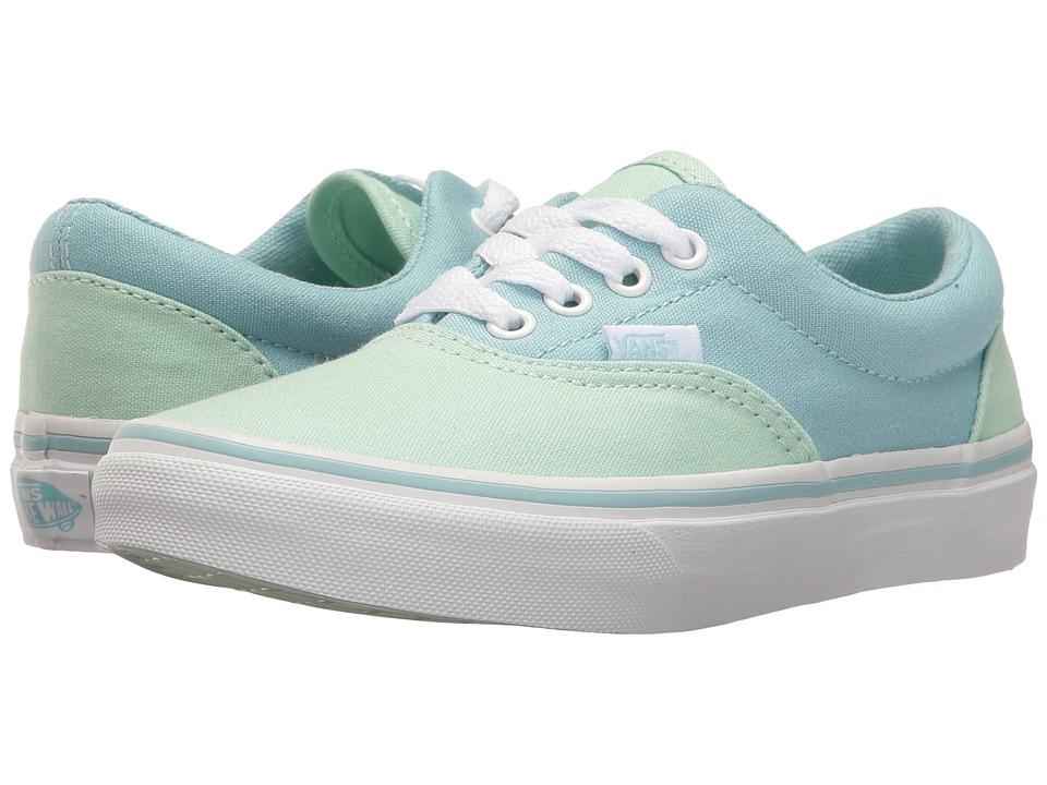 Vans Kids - Era (Little Kid/Big Kid) ((Pastel Tones) Bay/Crystal Blue) Girls Shoes