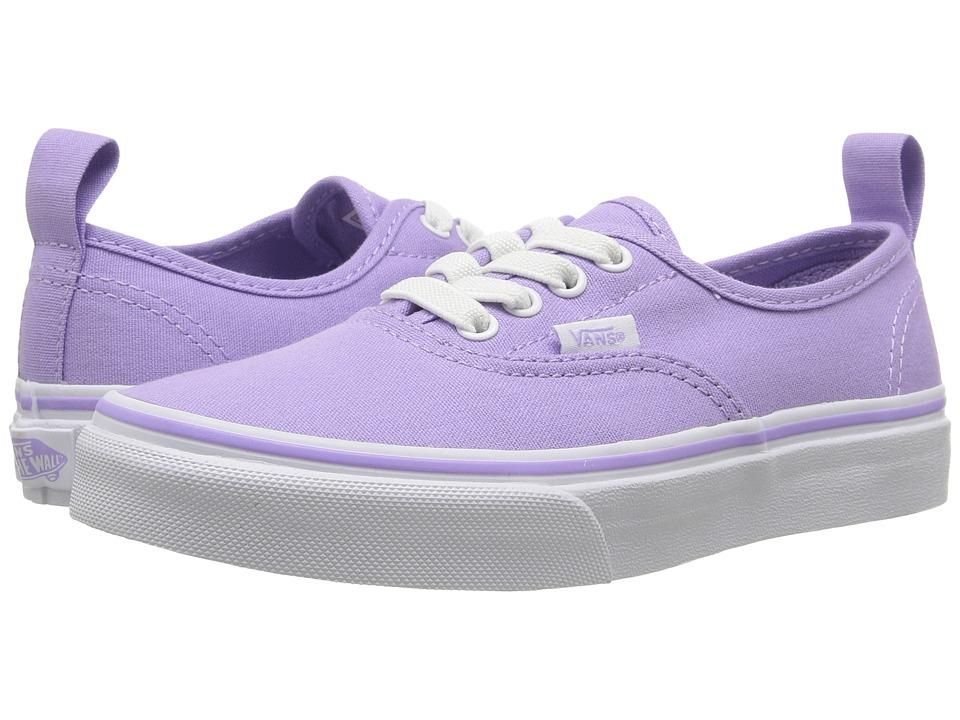 Vans Kids Authentic Elastic Lace (Little Kid/Big Kid) (Lavender/True White) Girls Shoes