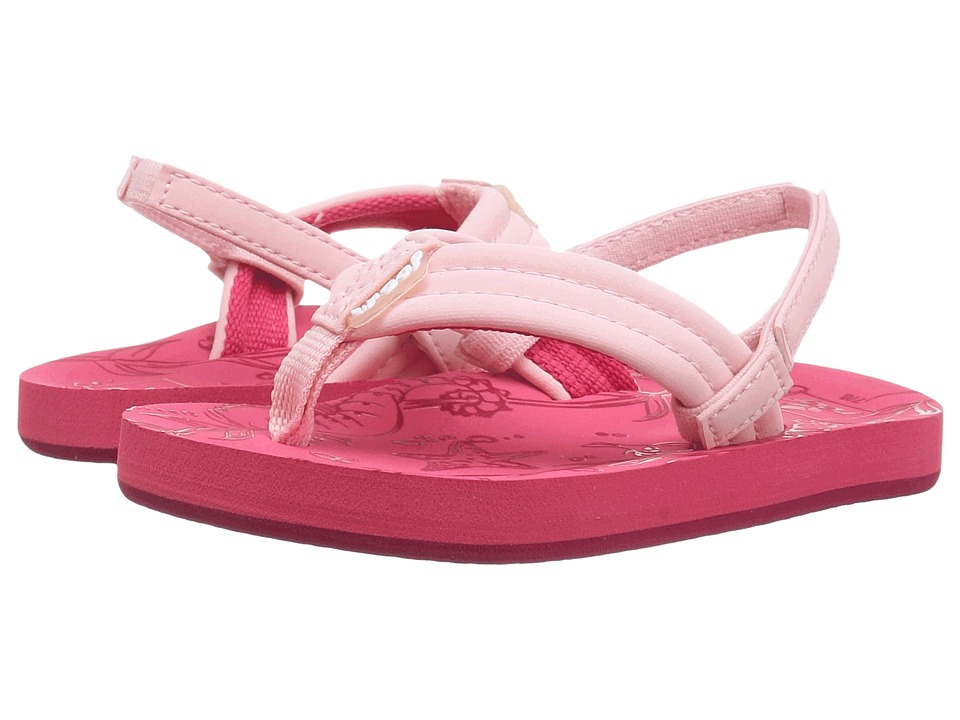 Reef Kids - Little Reef Footprints (Infant/Toddler/Little Kid/Big Kid) (Hot Pink) Girls Shoes