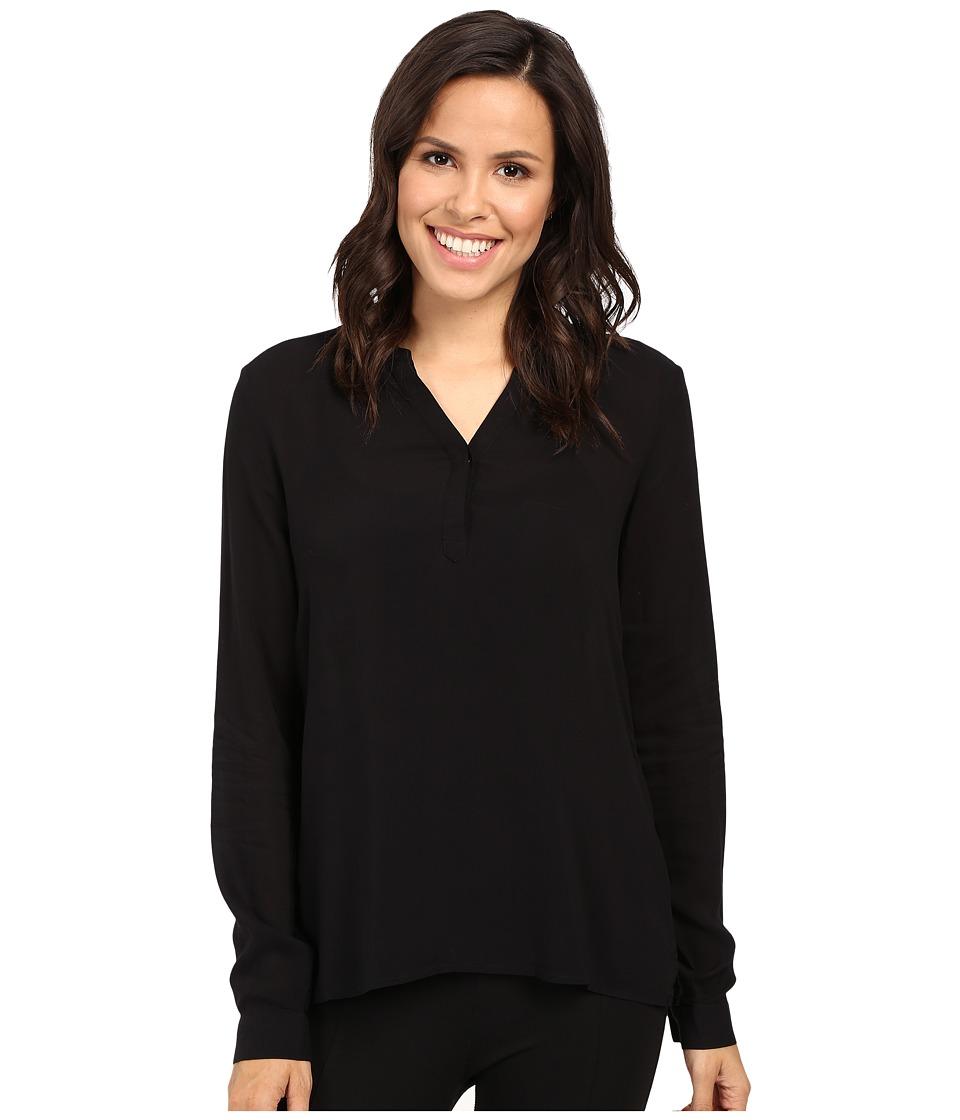 Mavi Jeans - Long Sleeve Crisscross Blouse (Black) Women's Blouse