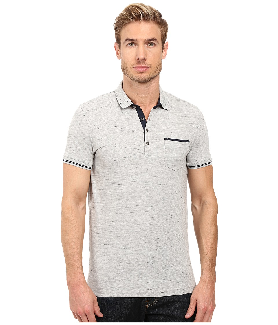 Mavi Jeans - Polo T-Shirt (Light Grey Melange) Men's Short Sleeve Knit