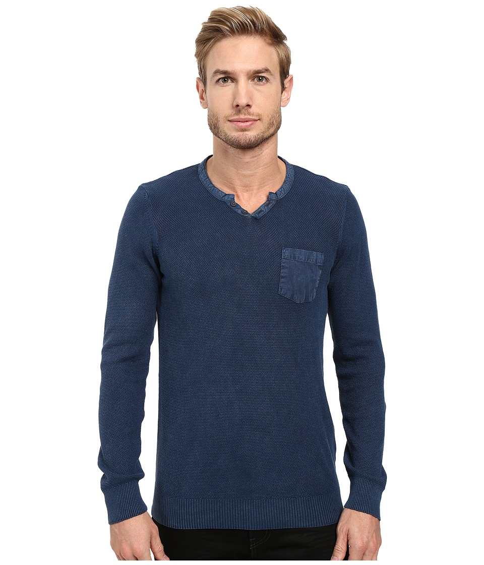 Mavi Jeans Button Up Sweater (Indigo) Men