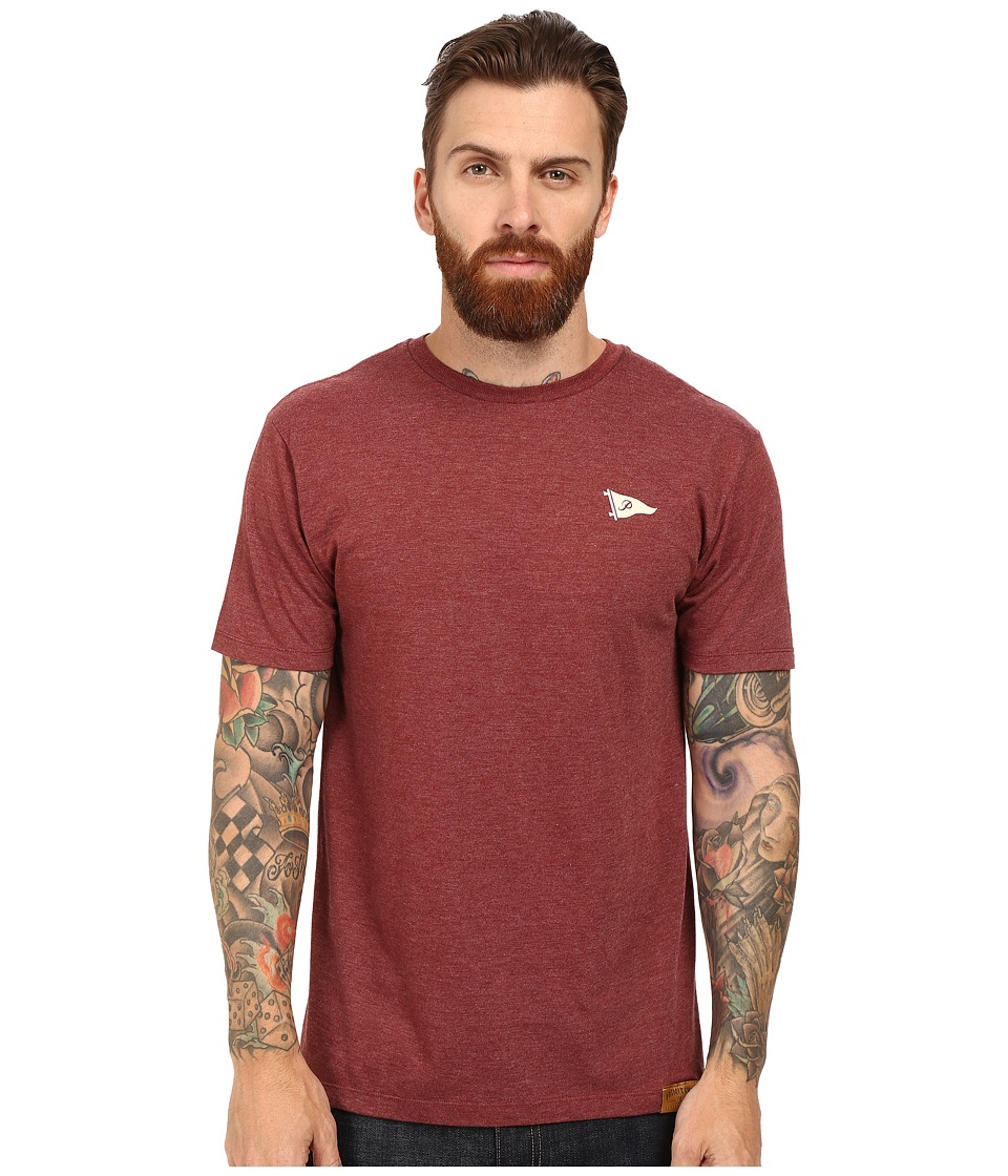 Primitive - Arch Pennant Lightweight Tee (Brown Heather) Men's T Shirt