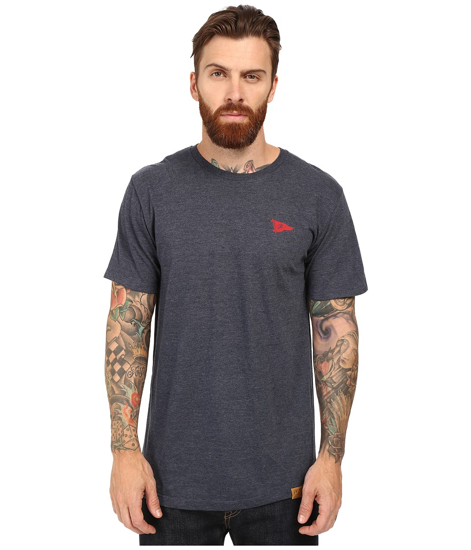 Primitive - Arch Pennant Lightweight Tee (Navy Heather) Men's T Shirt