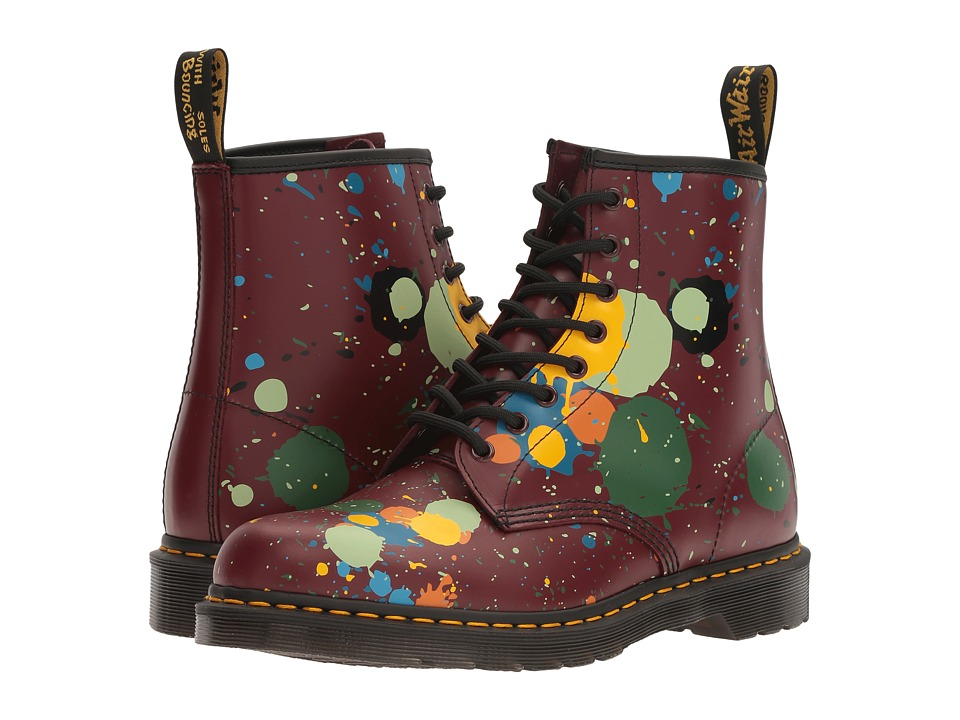 Dr. Martens 1460 (Cherry Red Splatter Smooth) Lace-up Boots