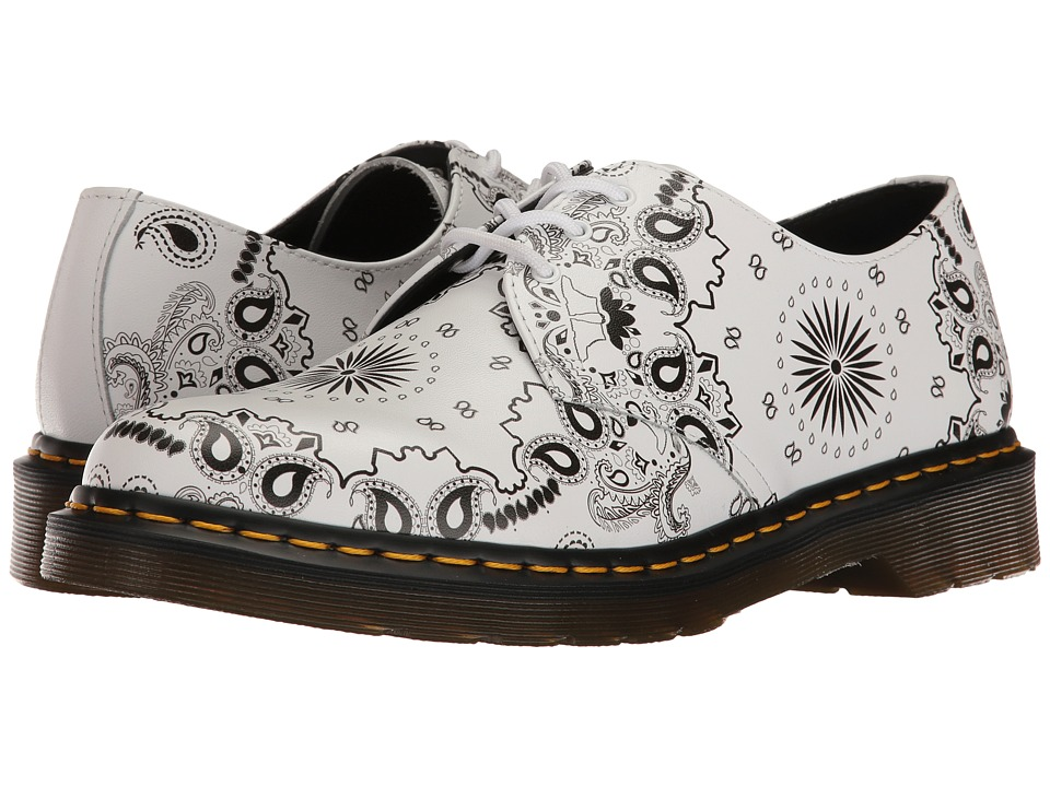 Dr. Martens - 1461 (White/Black Bandana Backhand) Industrial Shoes