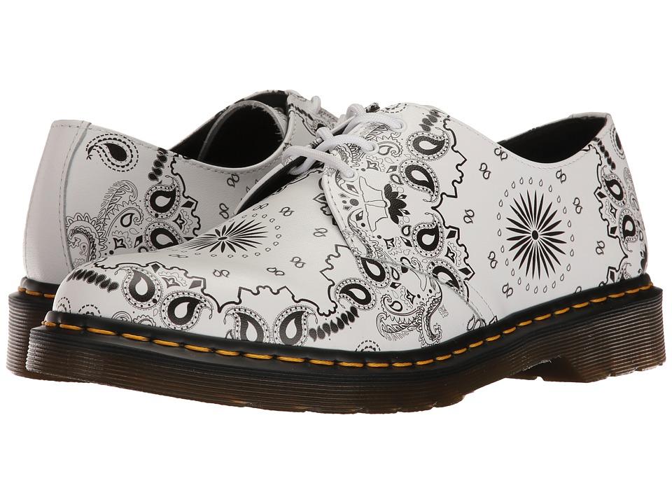 Dr. Martens - 1461 (White/Black Bandana Backhand) Industrial Shoes