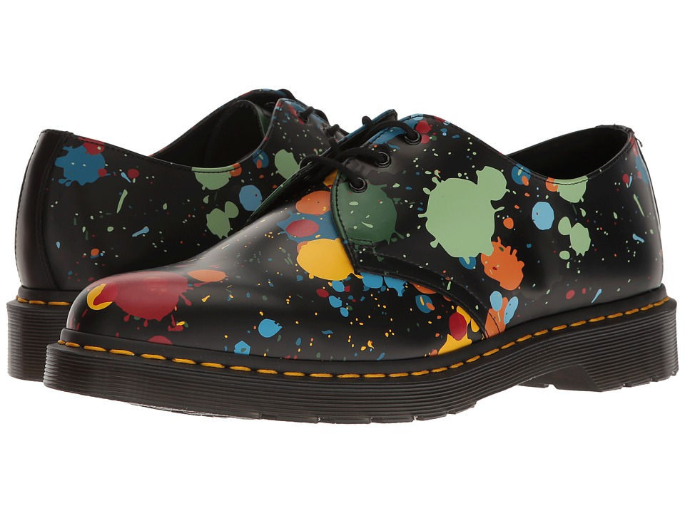 Dr. Martens 1461 (Black Splatter Smooth) Industrial Shoes