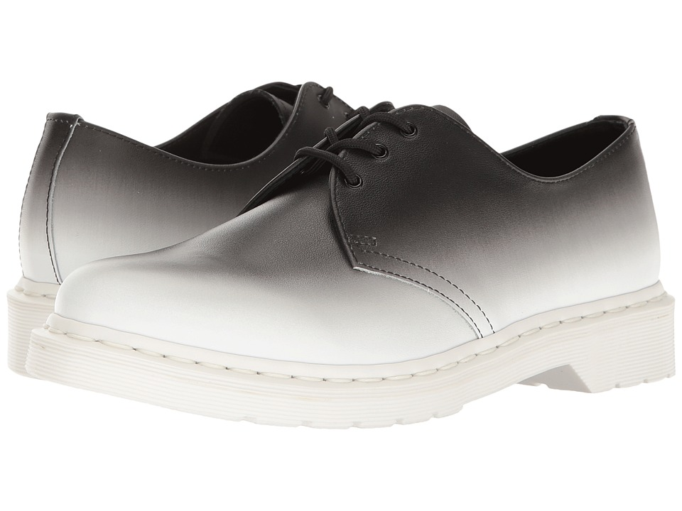 Dr. Martens - 1461 (White/Black Fade Out Backhand) Men's Shoes
