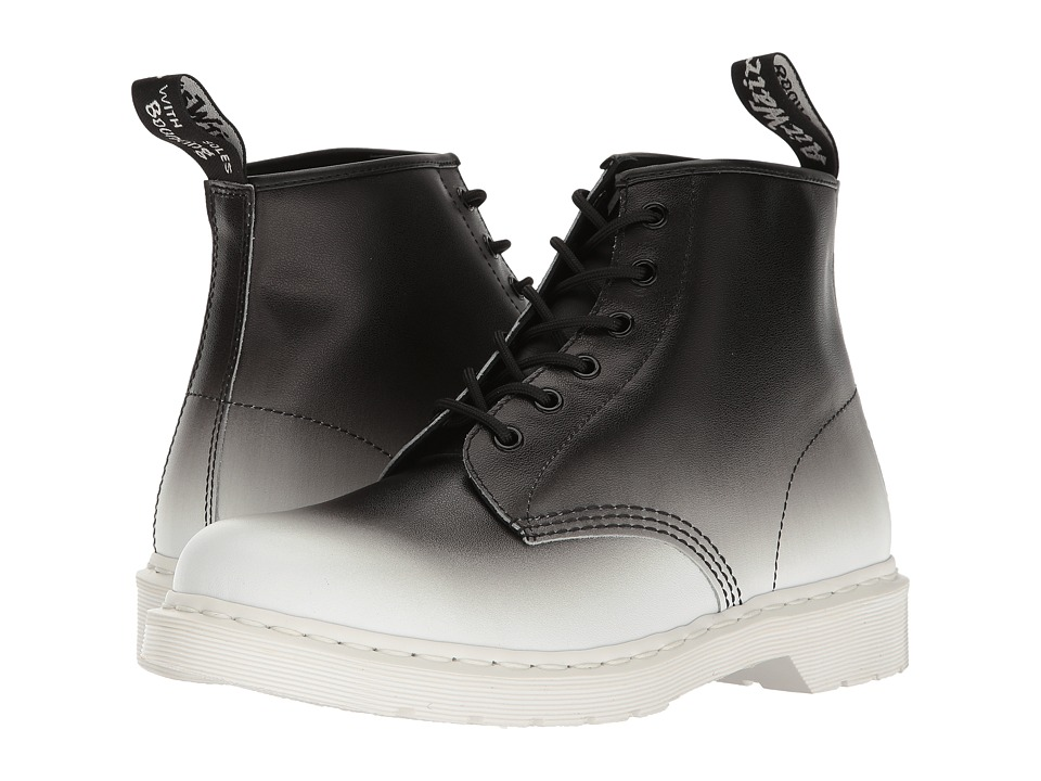 Dr. Martens - 101 (White/Black Fade Out Backhand) Men's Boots