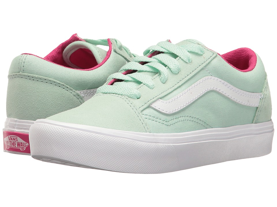 Vans Kids Old Skool Lite (Little Kid/Big Kid) ((Pop) Bay/True White) Girls Shoes