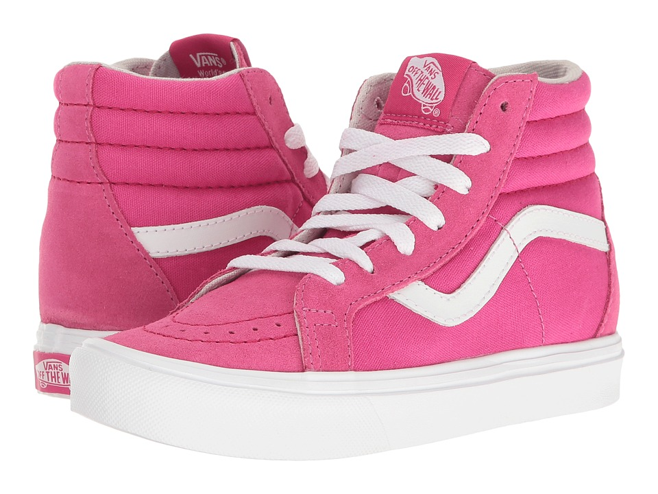 Vans Kids - Sk8-Hi Reissue Lite (Little Kid/Big Kid) ((Pop) Beet Root/True White) Girls Shoes