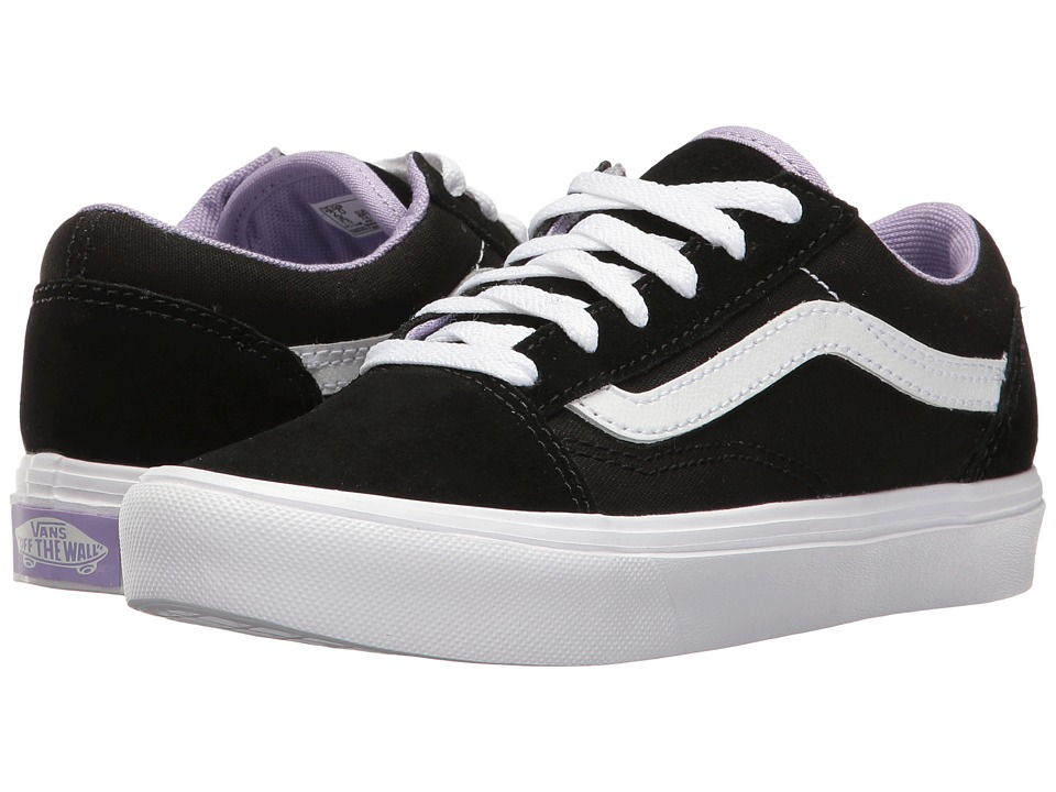 Vans Kids - Old Skool Lite (Little Kid/Big Kid) ((Pop) Black/True White) Girls Shoes