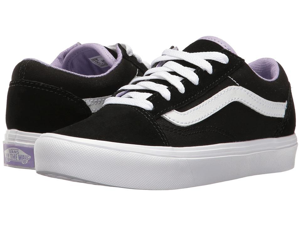 Vans Kids - Old Skool Lite (Little Kid/Big Kid) ((Pop) Black/True White) Girls Shoes