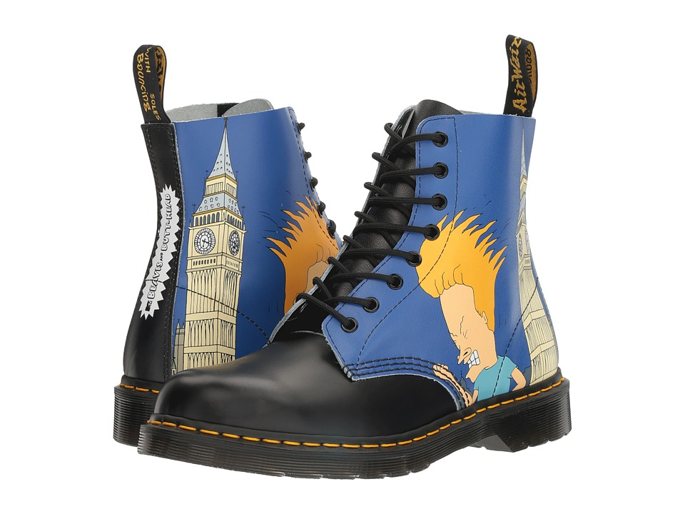 Dr. Martens - Beavis and Butt-Head Pascal (Black/White B&B London Backhand/Smooth) Boots