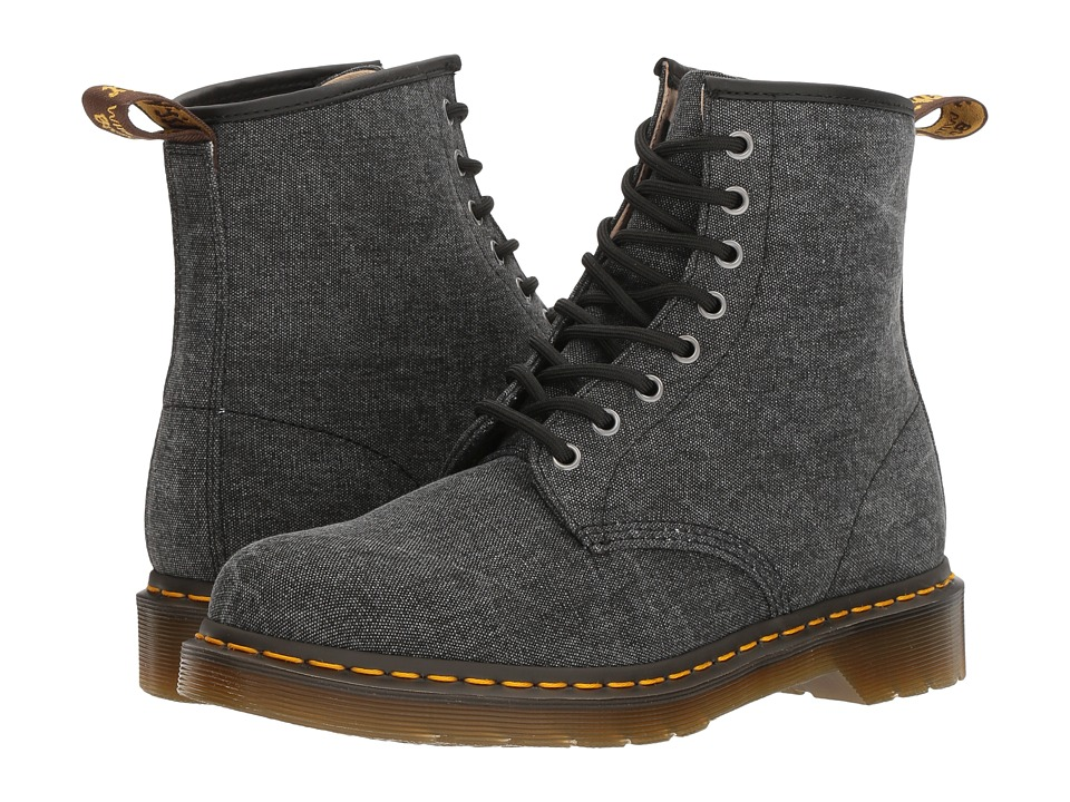 Dr. Martens - 1460 (Black Washed Canvas) Men's Boots