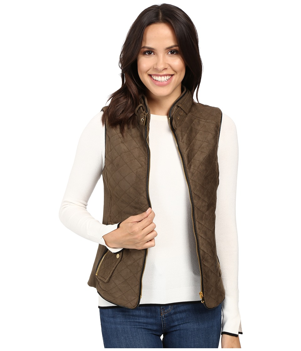 Fate - Quilted Vest (Olive/Black) Women's Vest
