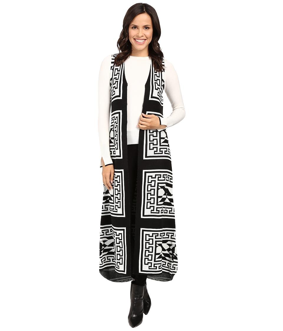 Fate - Maxi Knit Vest (Black) Women's Vest