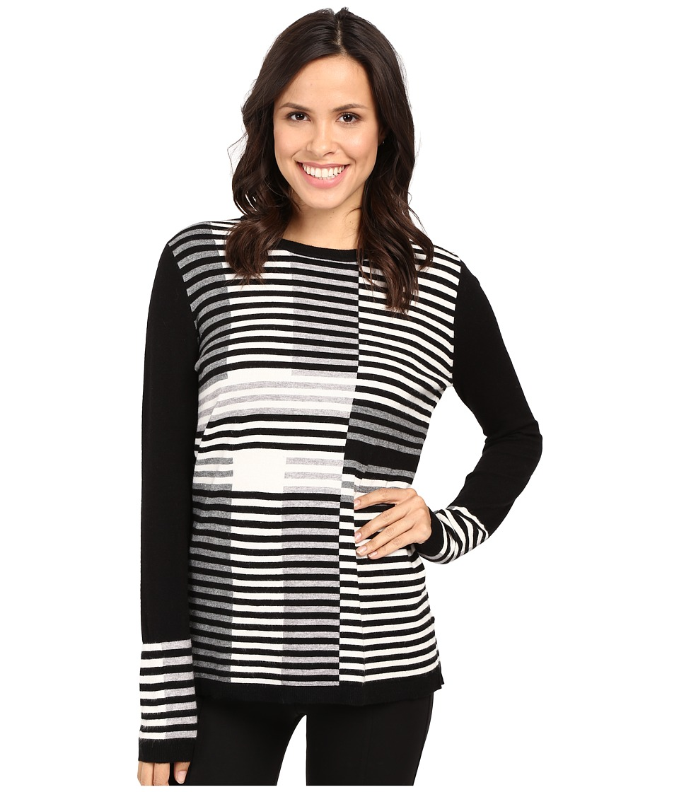 Fate - Mixed Stripe Knit (Black/Grey) Women's Clothing