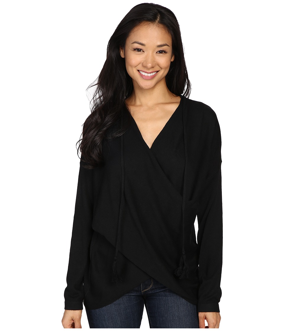 Fate - Wrap Front Sweater (Black) Women's Sweater