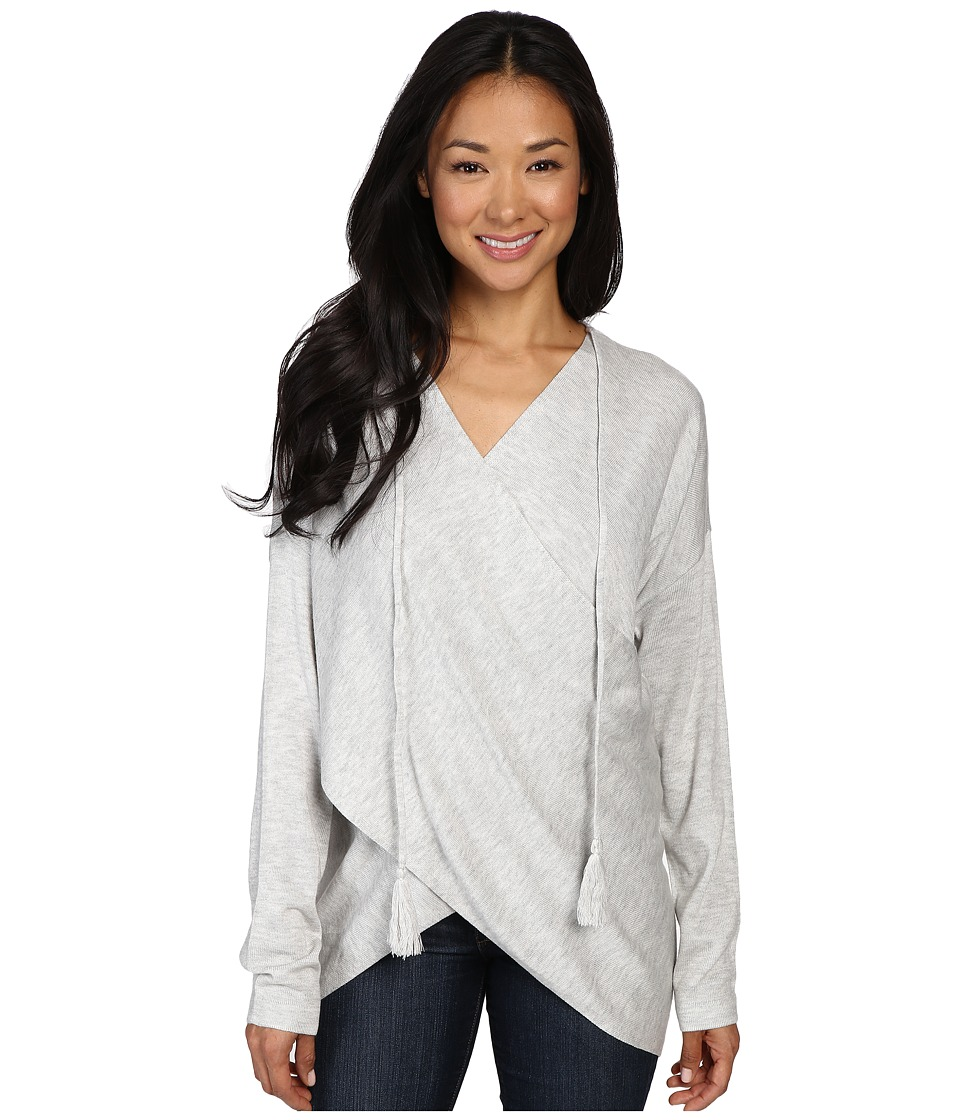 Fate - Wrap Front Sweater (Grey) Women's Sweater