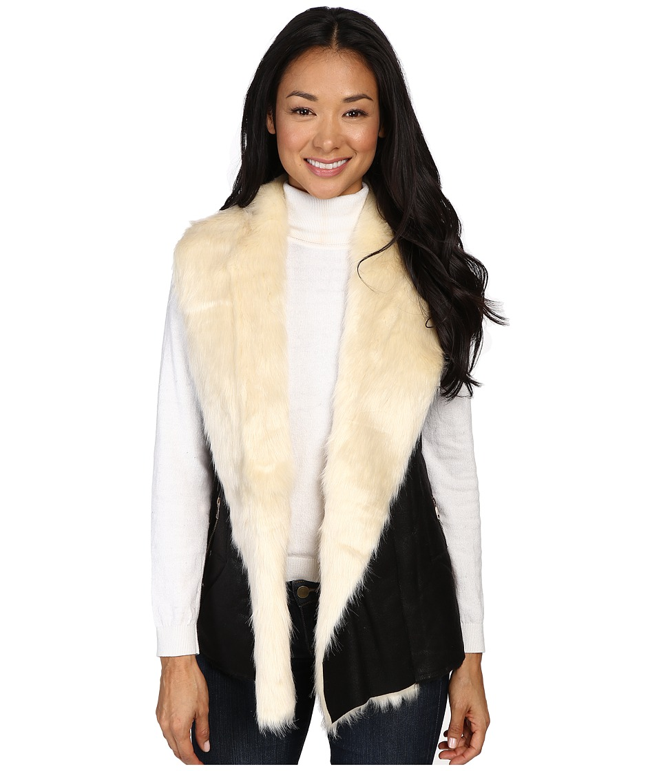 Fate - Faux Fur Vest (Black) Women's Vest