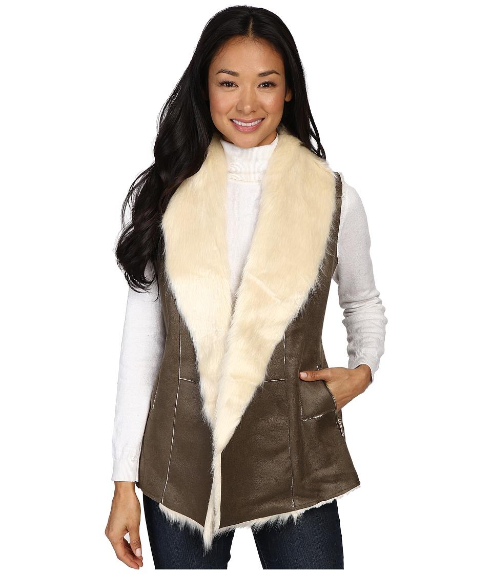 Fate - Faux Fur Vest (Olive) Women's Vest