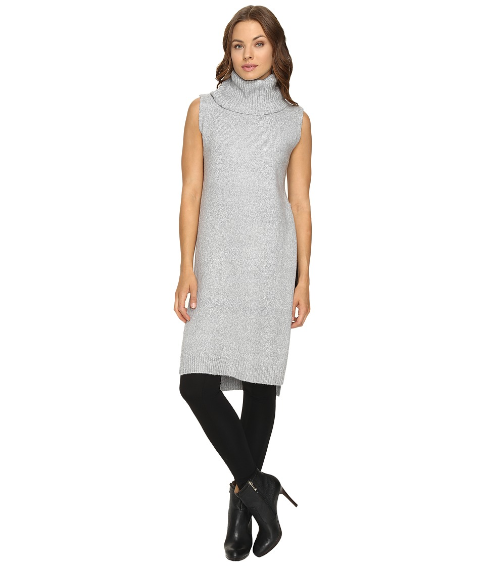 Fate - Sleeveless Cowl Open Side (Grey) Women's Clothing