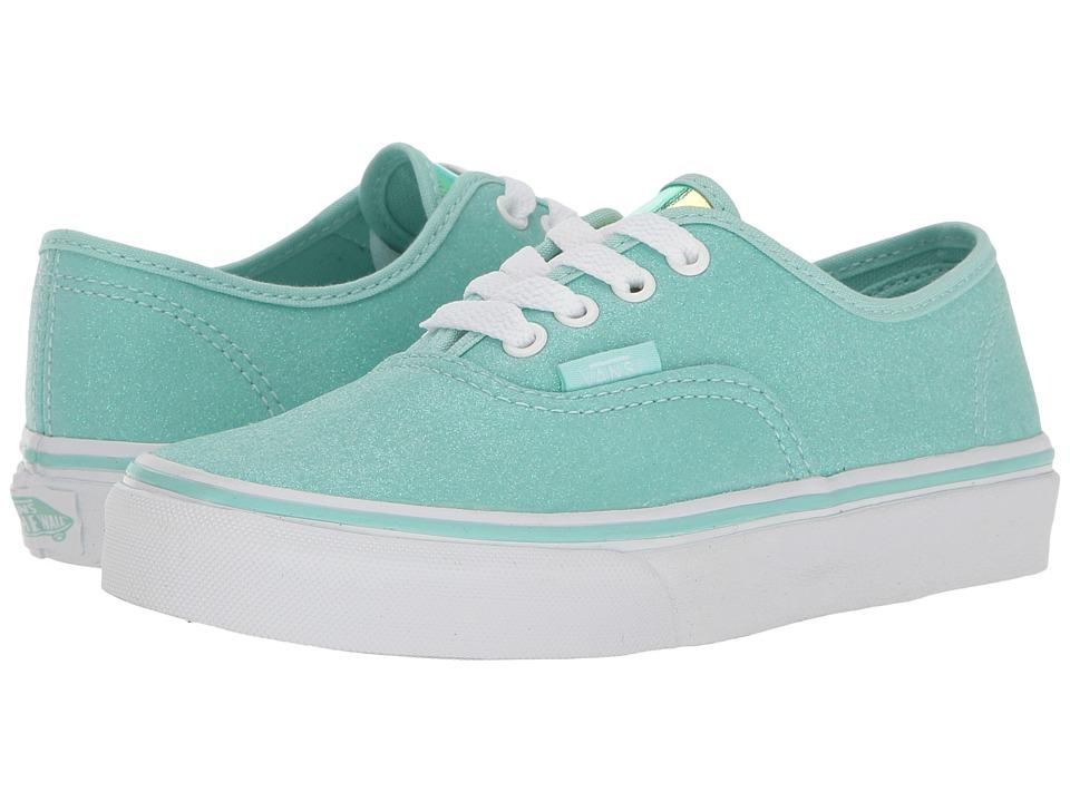 Vans Kids - Authentic (Little Kid/Big Kid) ((Glitter & Iridescent) Blue/True White) Girls Shoes