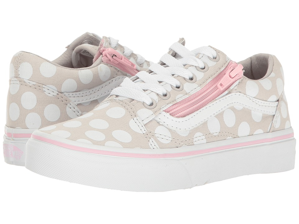 Vans Kids - Old Skool Zip (Little Kid/Big Kid) ((Polka Dot) Wind Chime/Pink Lady) Girls Shoes
