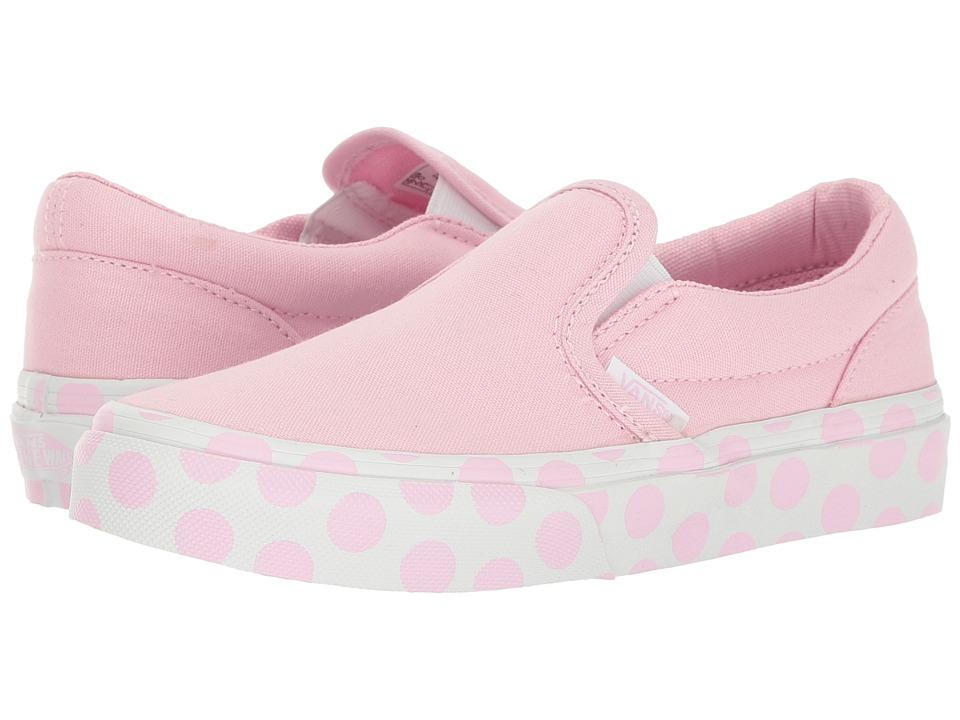 Vans Kids - Classic Slip-On (Little Kid/Big Kid) ((Polka Dot) Pink Lady/True White) Girls Shoes