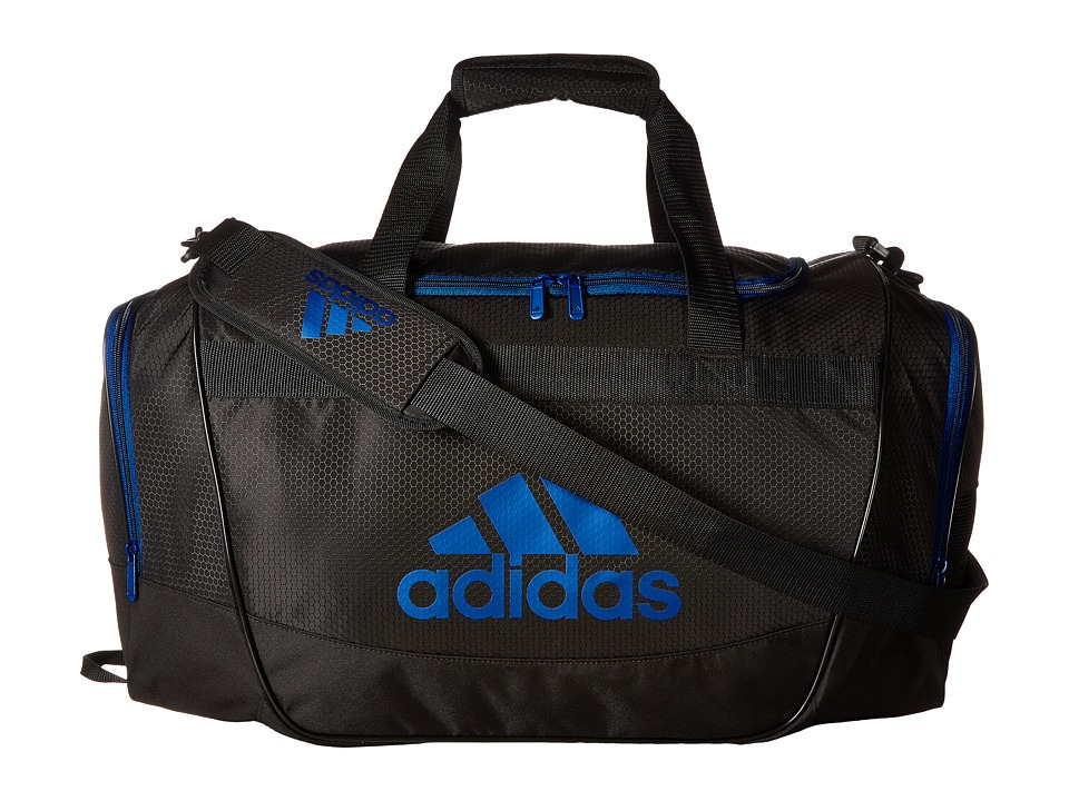 adidas - Defender II Medium Duffel (Black/Blue) Duffel Bags