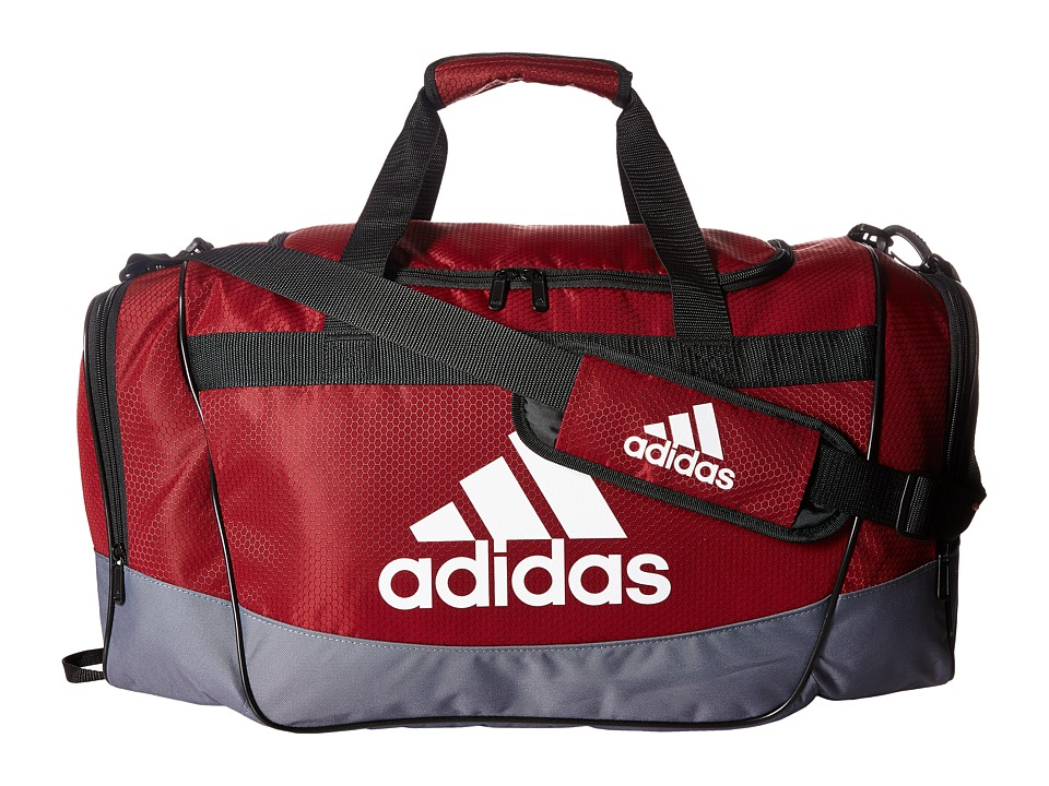 adidas - Defender II Medium Duffel (Collegiate Burgundy/Onix/White/Black) Duffel Bags