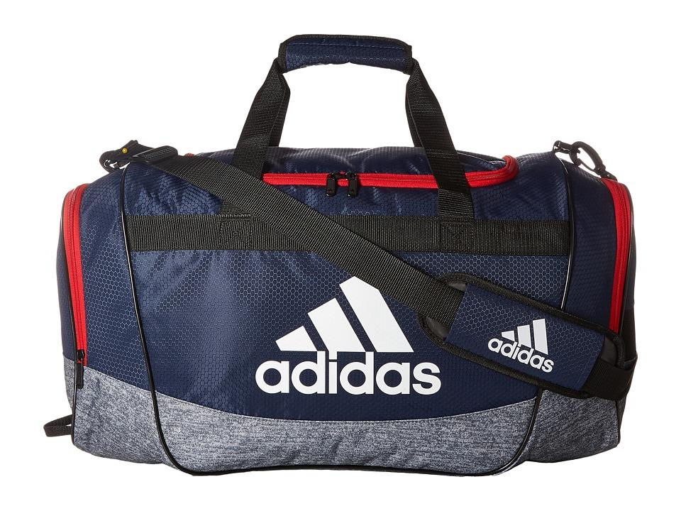 adidas - Defender II Medium Duffel (Collegiate Navy/Jersey Onix/Scarlet/White) Duffel Bags