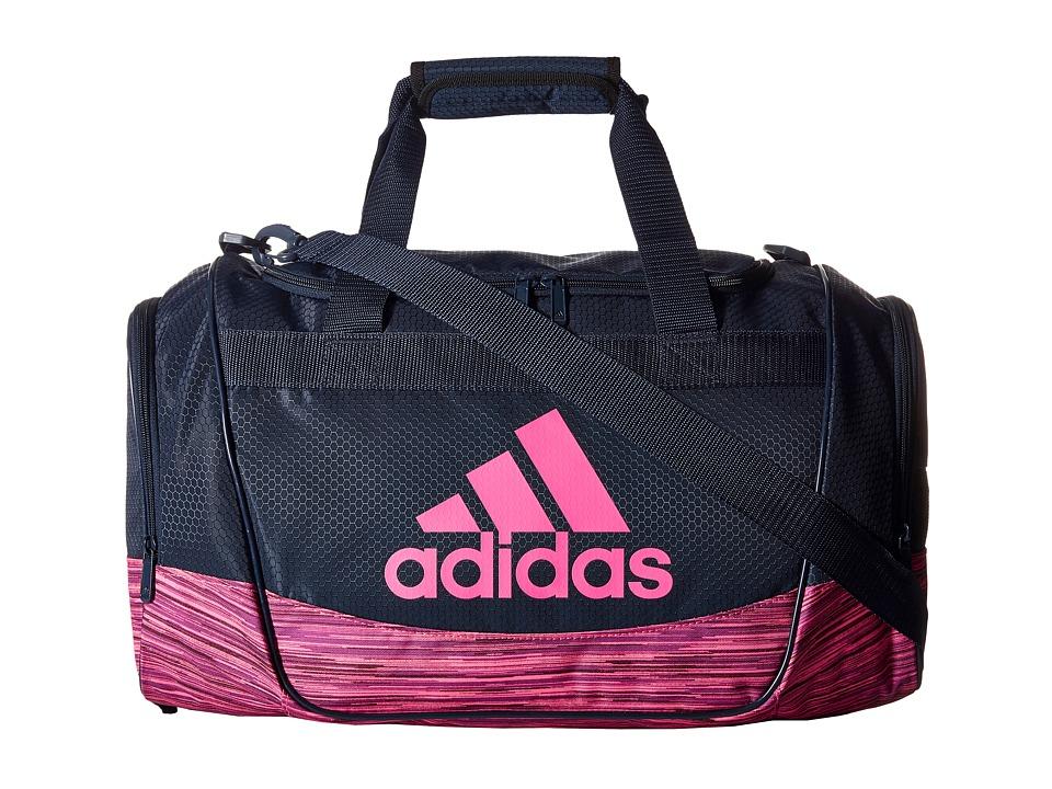 adidas - Defender II Duffel Small (Collegiate Navy/Shock Pink) Duffel Bags