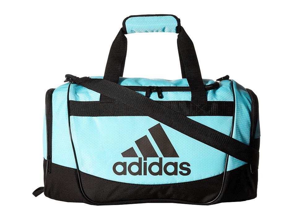 adidas - Defender II Duffel Small (Clear Aqua/Black) Duffel Bags