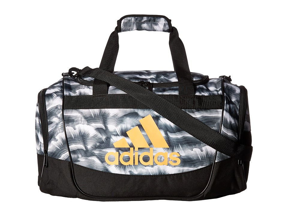adidas - Defender II Duffel Small (Cosmic White/Black/Glow Orange) Duffel Bags