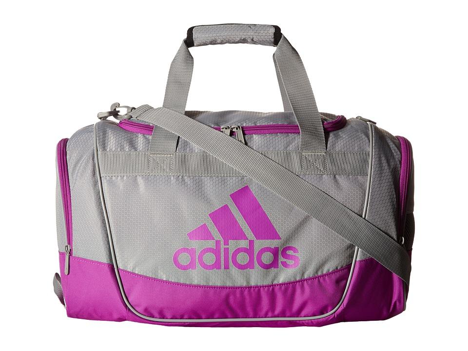 adidas - Defender II Duffel Small (Light Onix/Shock Purple) Duffel Bags